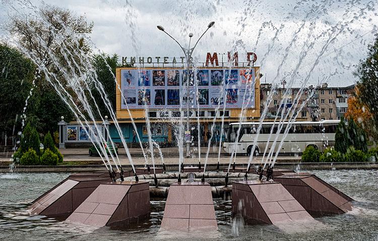 Фонтан на бульваре Мира