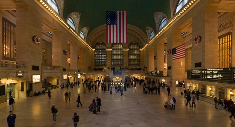 Внутри центрального вокзала
