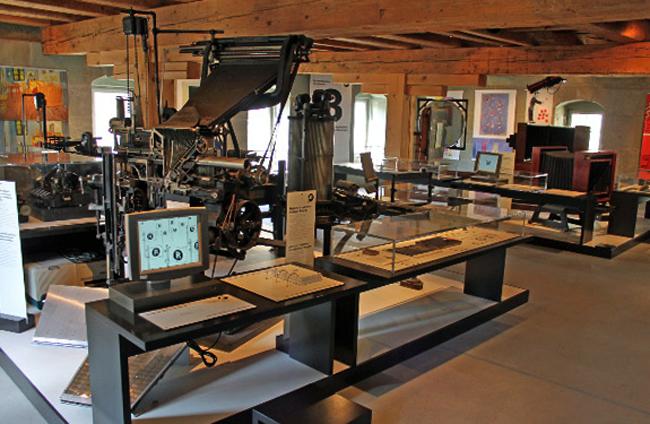 Внутри музея Гутенберга