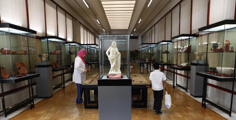 Внутри нуматийского музея