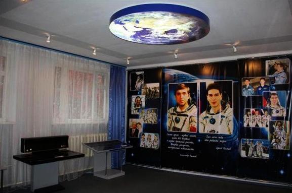 Внутри музея космонавтов