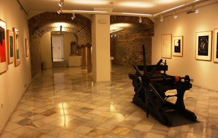 Внутри музея современной испанской гравюры