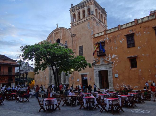 Площадь Санто-Доминго в Картахене