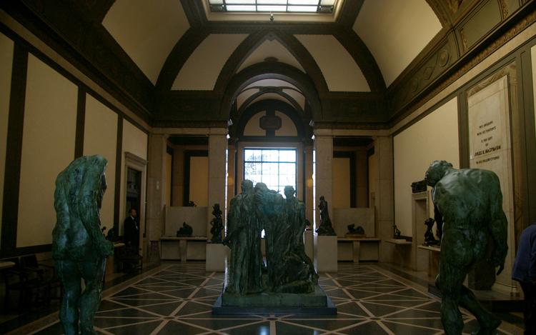 Внутри музея Родена