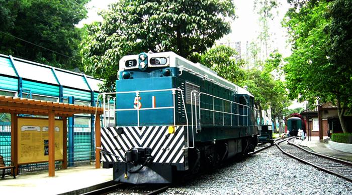 Внутри музея поездов
