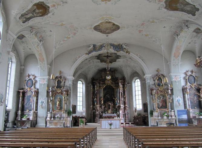 Внутри церкви святого Галла