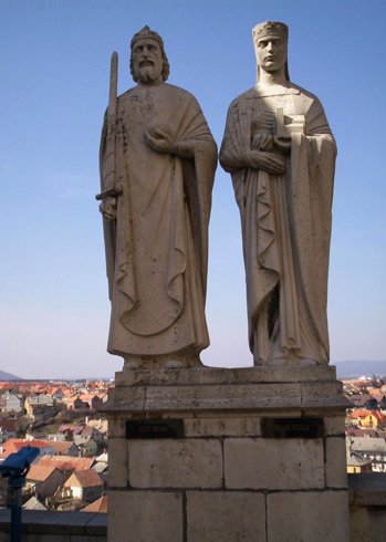 Статуи королю Иштвану и Гизелле