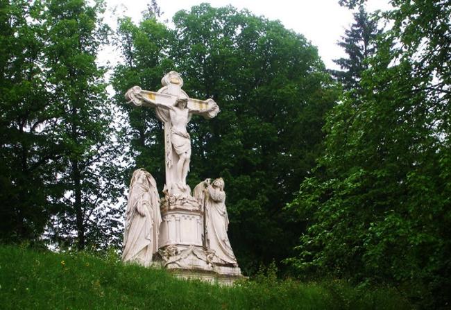 Мраморное распятие Христа