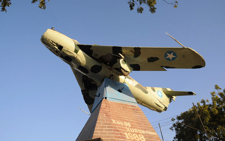 Мемориал жертвам бомбардировки в Харгейсе