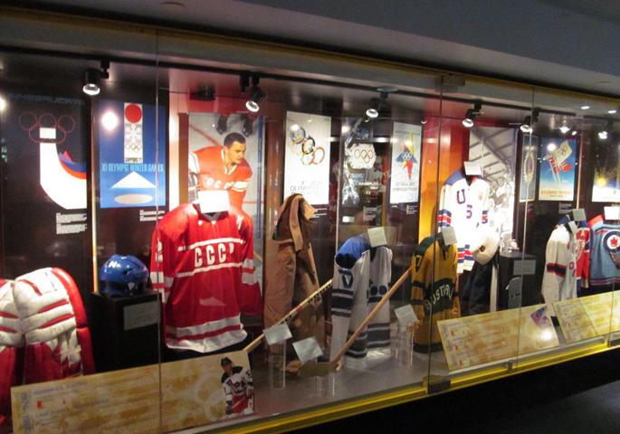 Внутри зала хоккейной славы