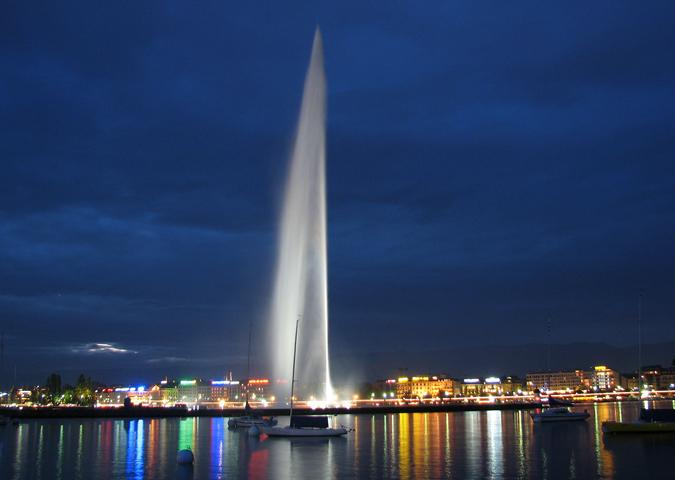 Фонтан Женевского озера
